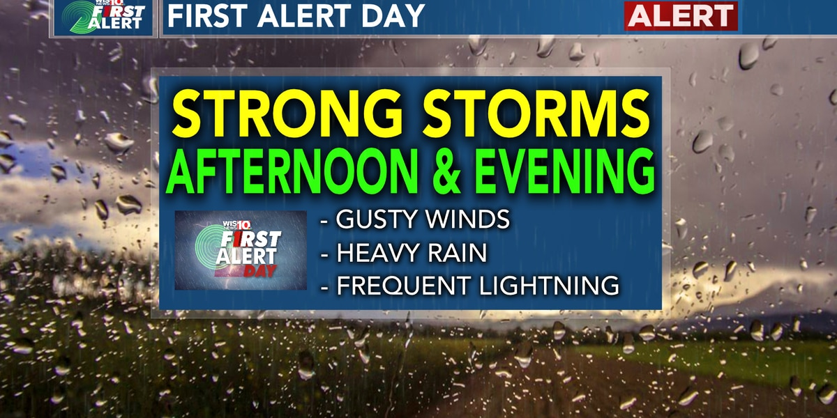 First Alert Day: Scattered storms this afternoon and tonight as well