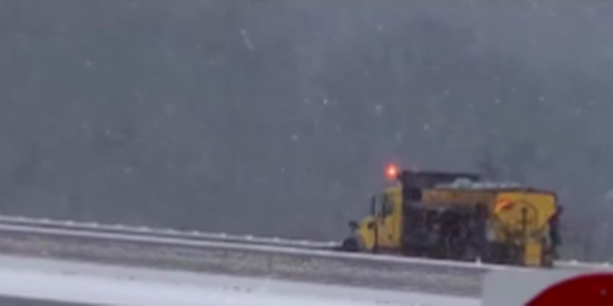 Officials are encouraging drivers to exercise caution on the road ahead of wintry storm