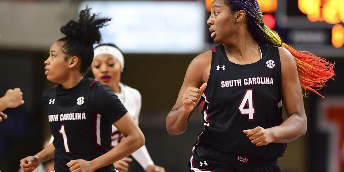 Cooke, Boston lead No. 2 South Carolina past Auburn 77-58