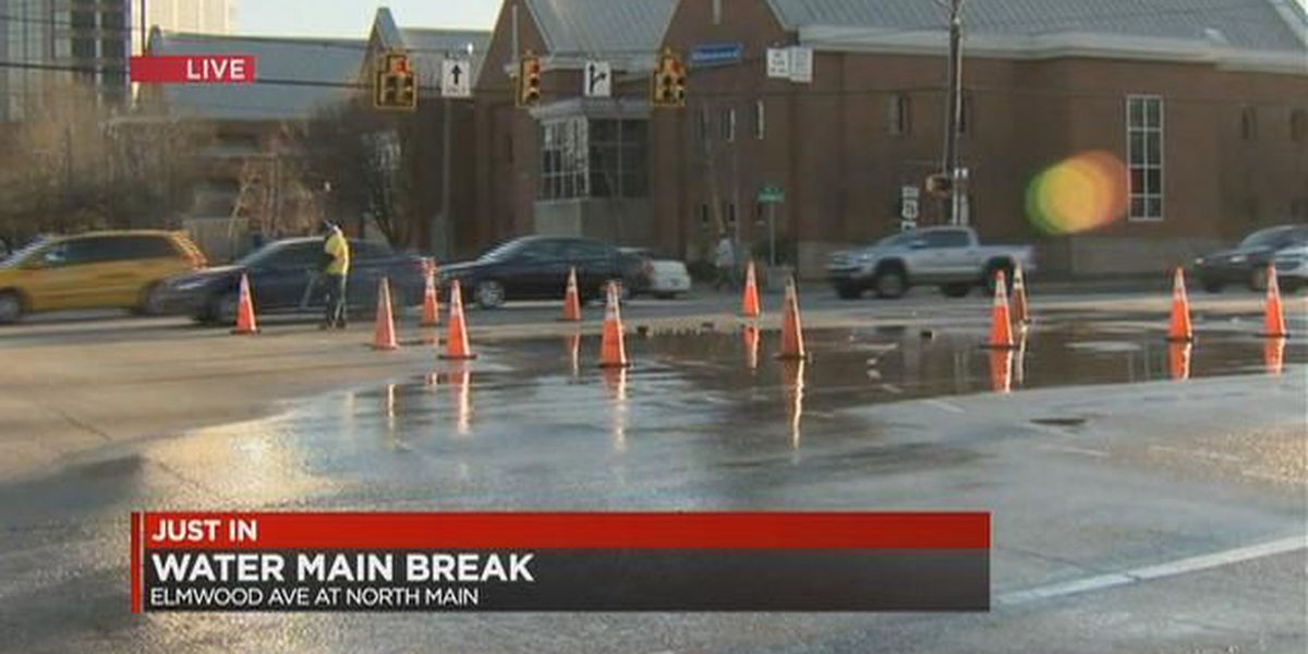 Water main break in downtown Columbia causes traffic delays