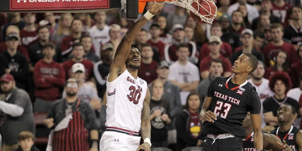 Evans leads No. 14 Texas Tech to 70-63 win over SC