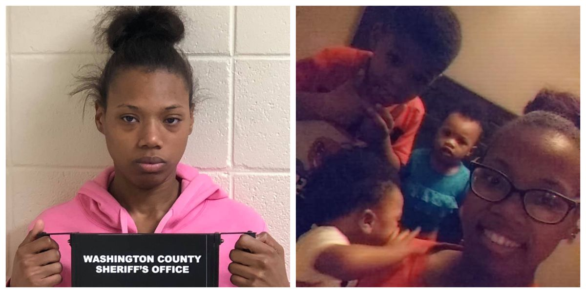 Mother charged after car rolls into creek, killing her kids inside