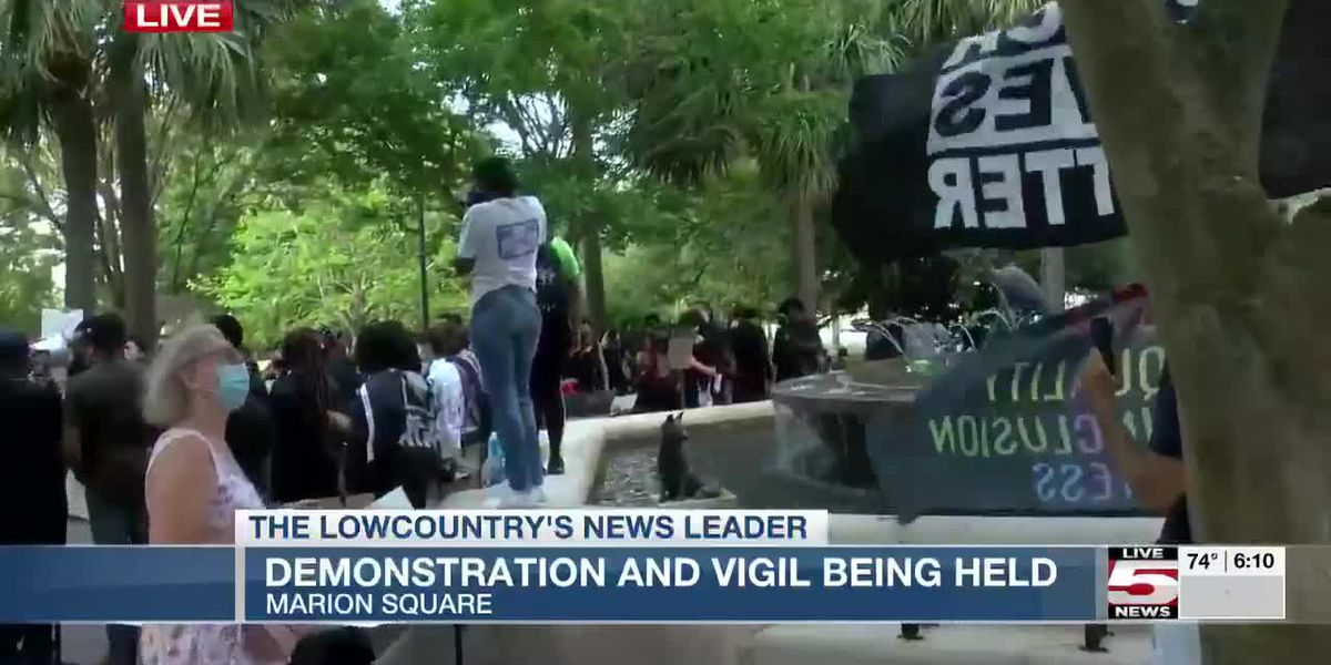 VIDEO: Marion Square demonstration and vigil