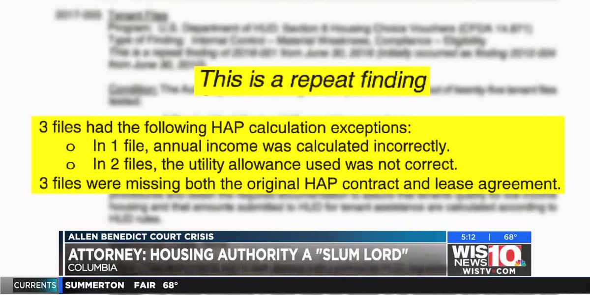 Discrepancies continue as WIS uncovers more Columbia Housing Authority documents