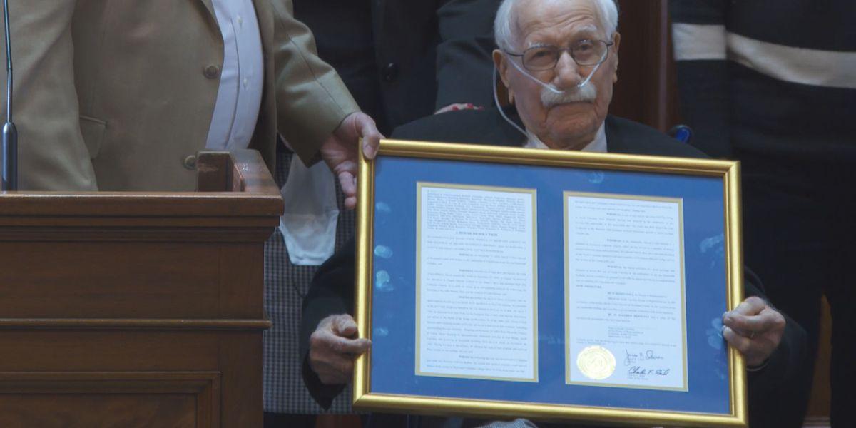 WWII veteran honored ahead of 100th birthday