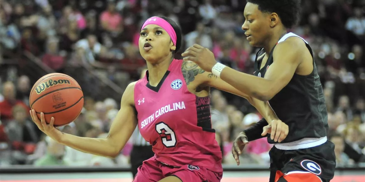 No. 11 South Carolina women beat Georgia 65-57