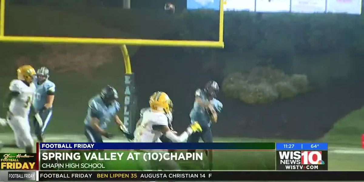 Play 5: Chapin's Roger Pedroni fires an 80 yard cannon for an easy TD