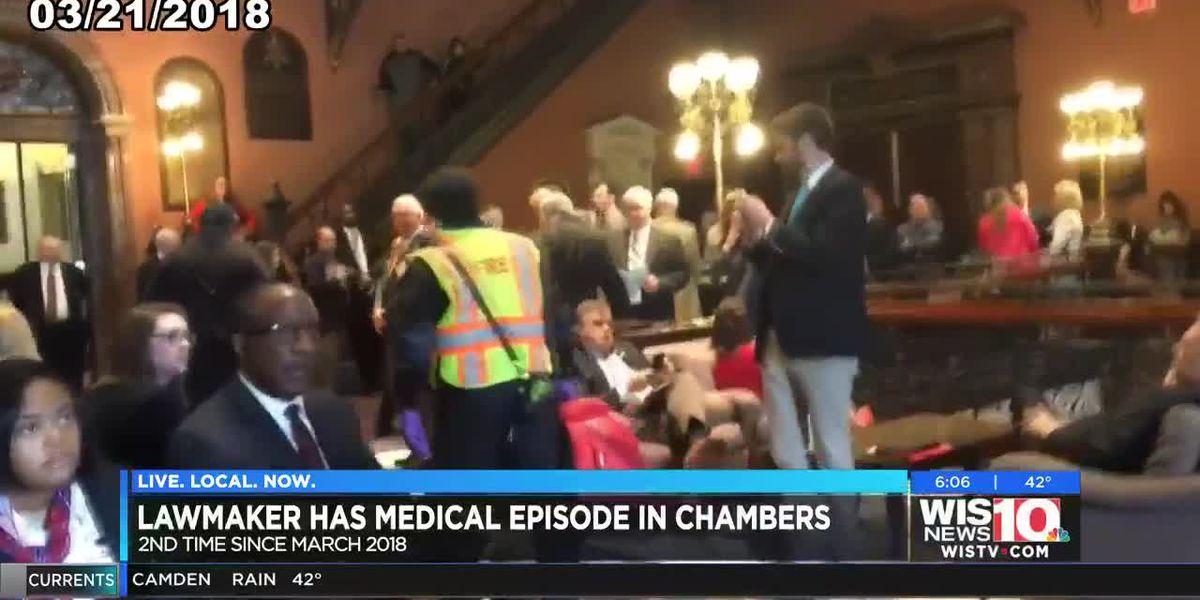 SC State Rep. Bales collapses on House floor for the second time in a year