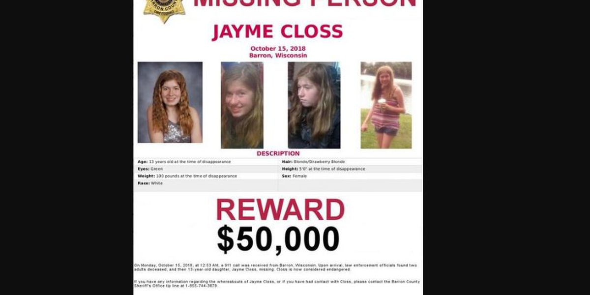Those who helped Jayme Closs want her to get $50,000 reward after making own escape