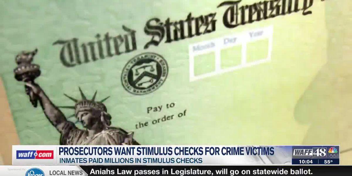 Alabama prosecutors want inmate stimulus checks to go to crime victims