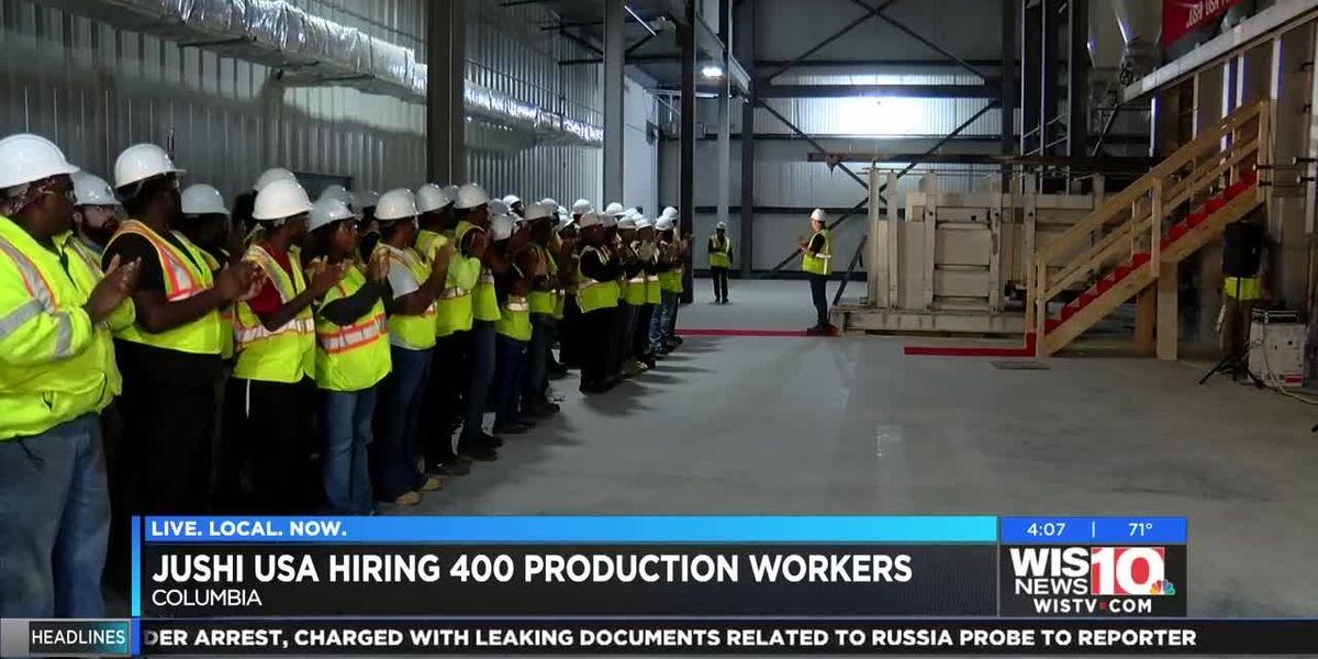 Fiberglass manufacturer Jushi USA looking to quickly hire 400 workers in the Midlands
