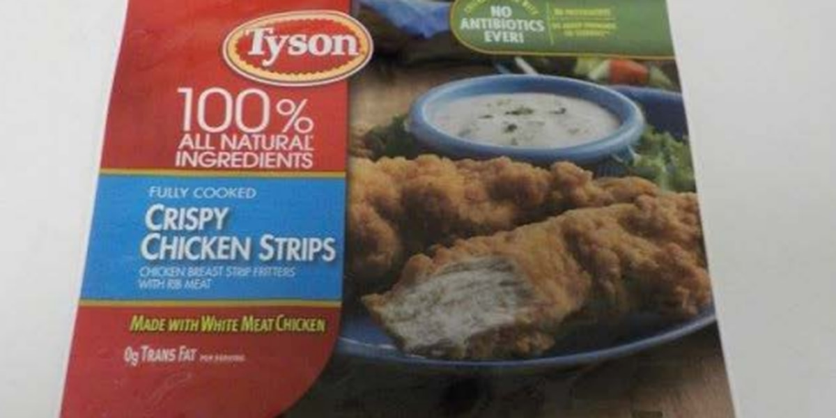 Tyson Foods now recalling 11.8 million pounds of chicken strips