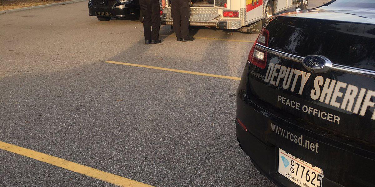 Deputy hit by patrol car in Walmart parking lot transported to hospital