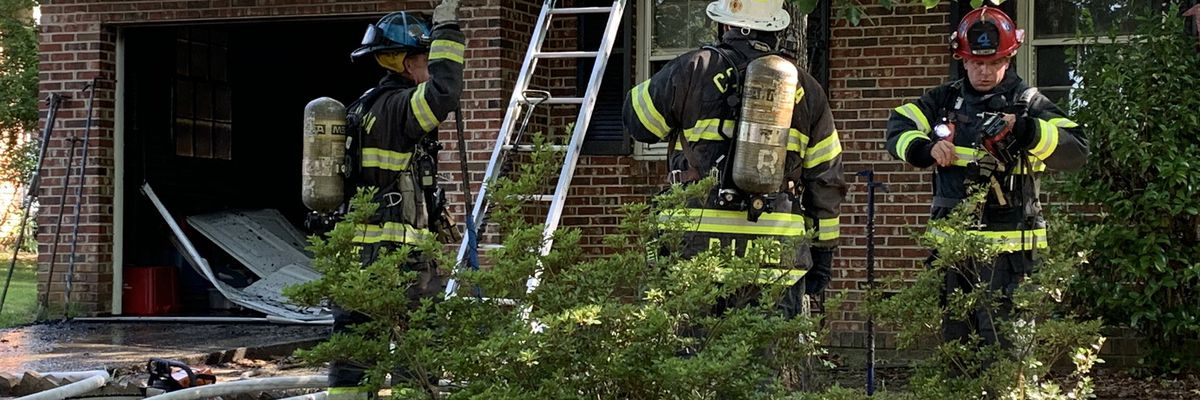 Home suffers damage after fire in Columbia