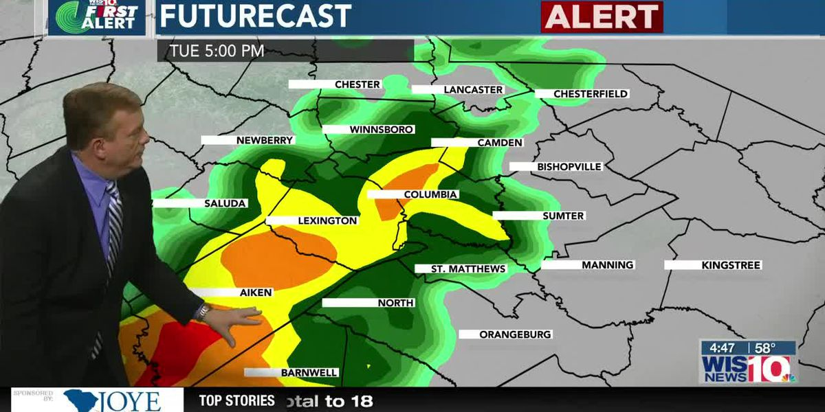 First Alert Forecast: Alert Day For Heavy Rain and Isolated Storms