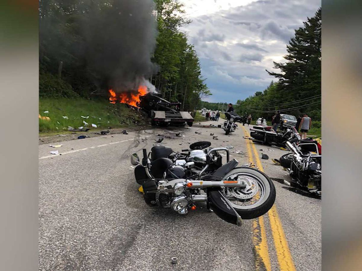 Truck driver charged with 7 homicides in New Hampshire motorcycle crash
