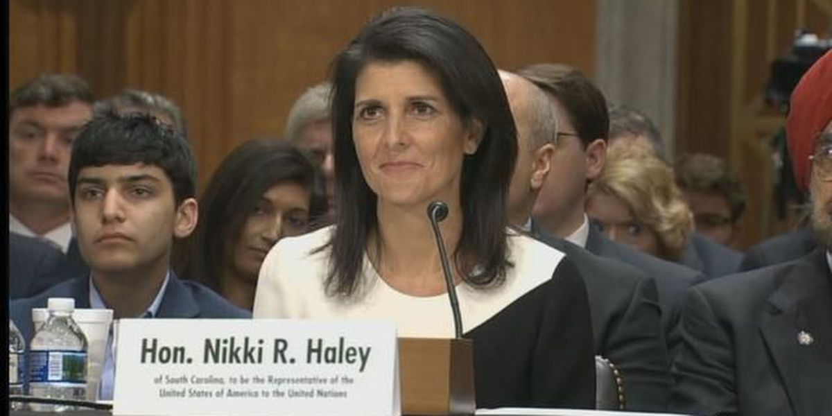FULL TEXT: Gov. Nikki Haley's opening comments in confirmation hearing