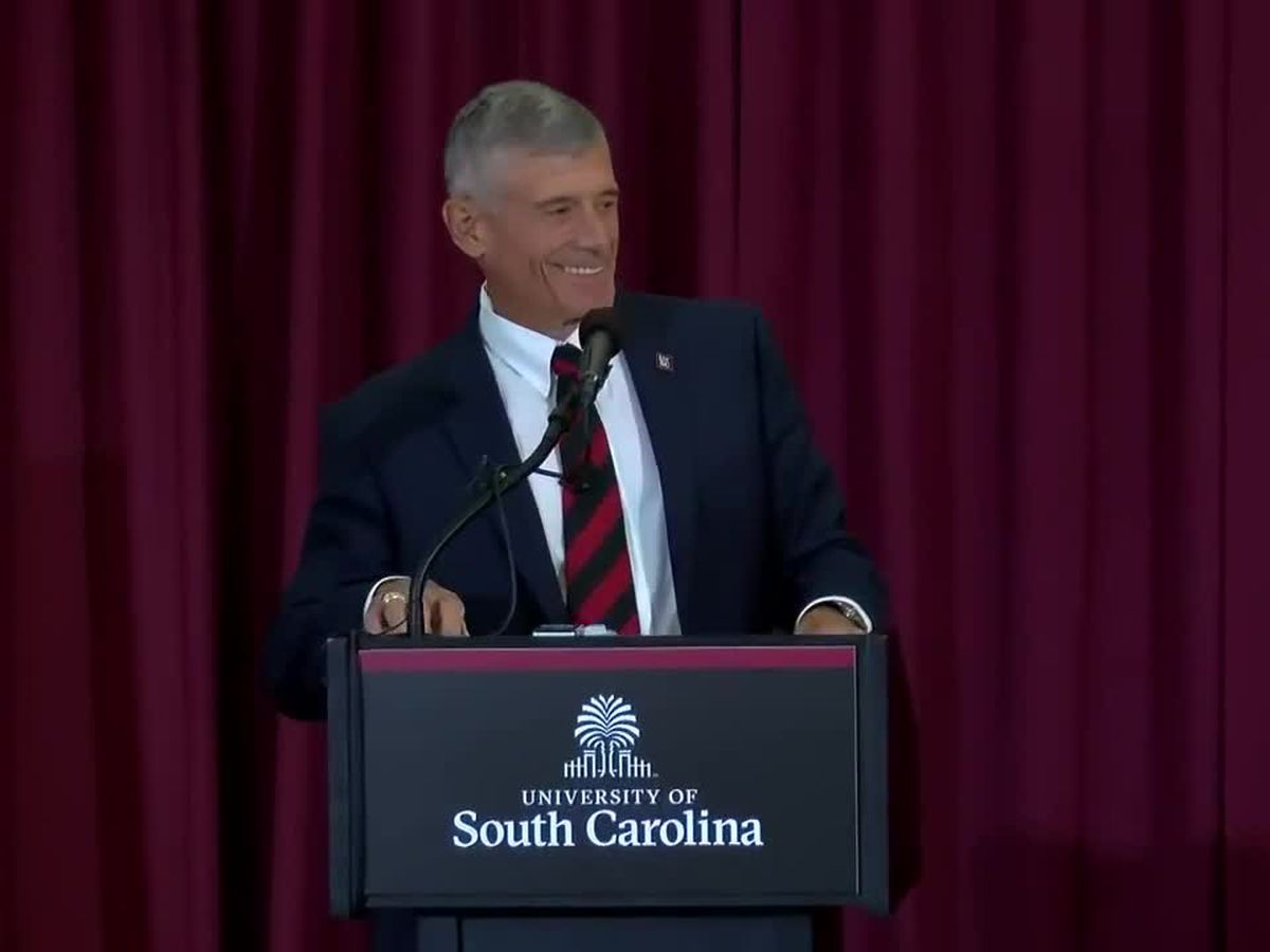 Caslen addresses UofSC community for the first time as president-elect