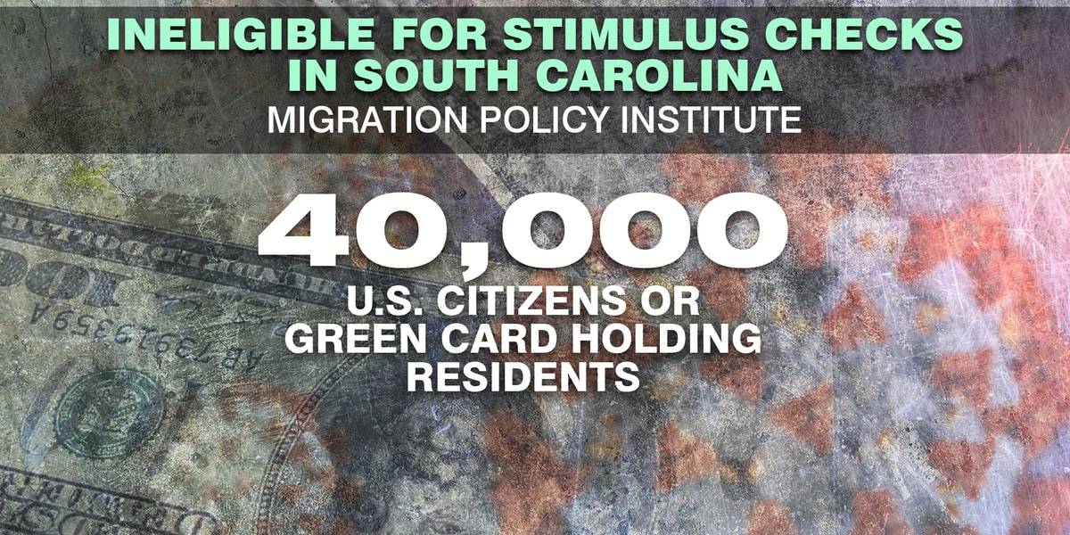 Policy Institute: 40,000 US Citizens or Green Card holders in South Carolina missed out on 1st round of stimulus checks