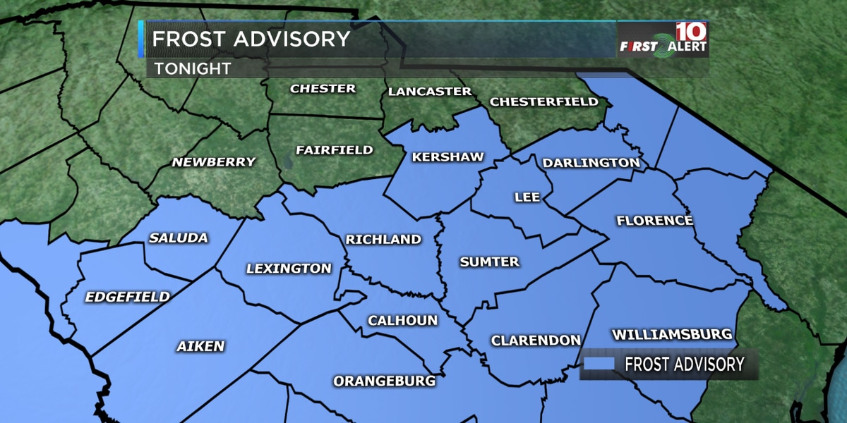 First Alert Forecast: Frost Advisory Tonight - Beautiful Weekend!