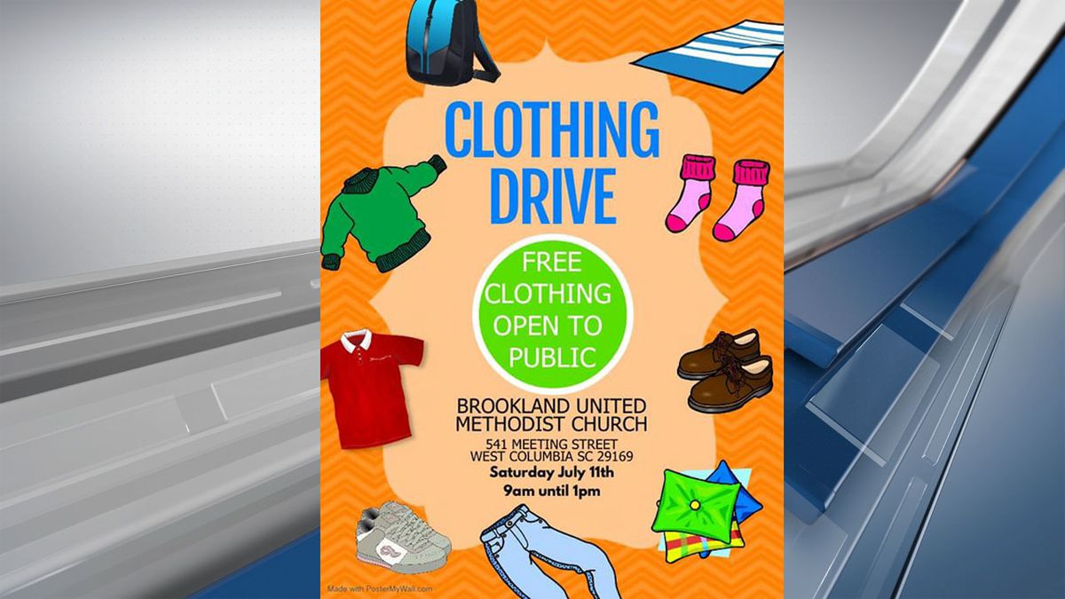 Church to host free clothing drive Saturday in West Columbia