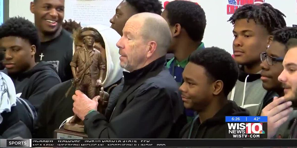 Dutch Fork receives national rankings trophy from Maxpreps