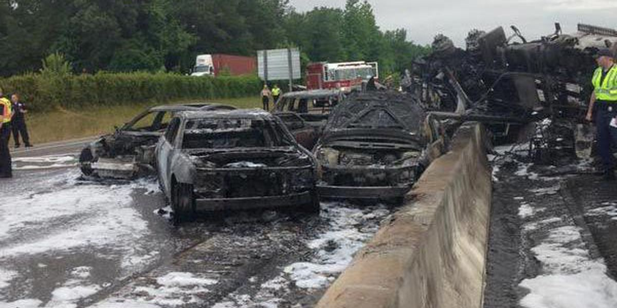 What's being done to fix I-26 following fiery crash?