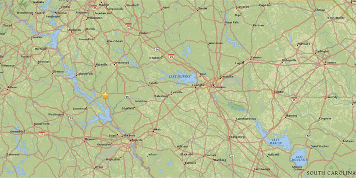 2.6 magnitude earthquake strikes west of Columbia near SC-GA line