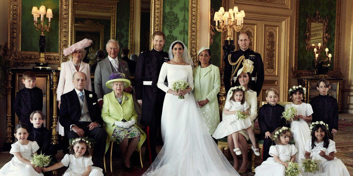 Kensington Palace released the official Royal Wedding family photo and it's what Disney princess dreams are made of