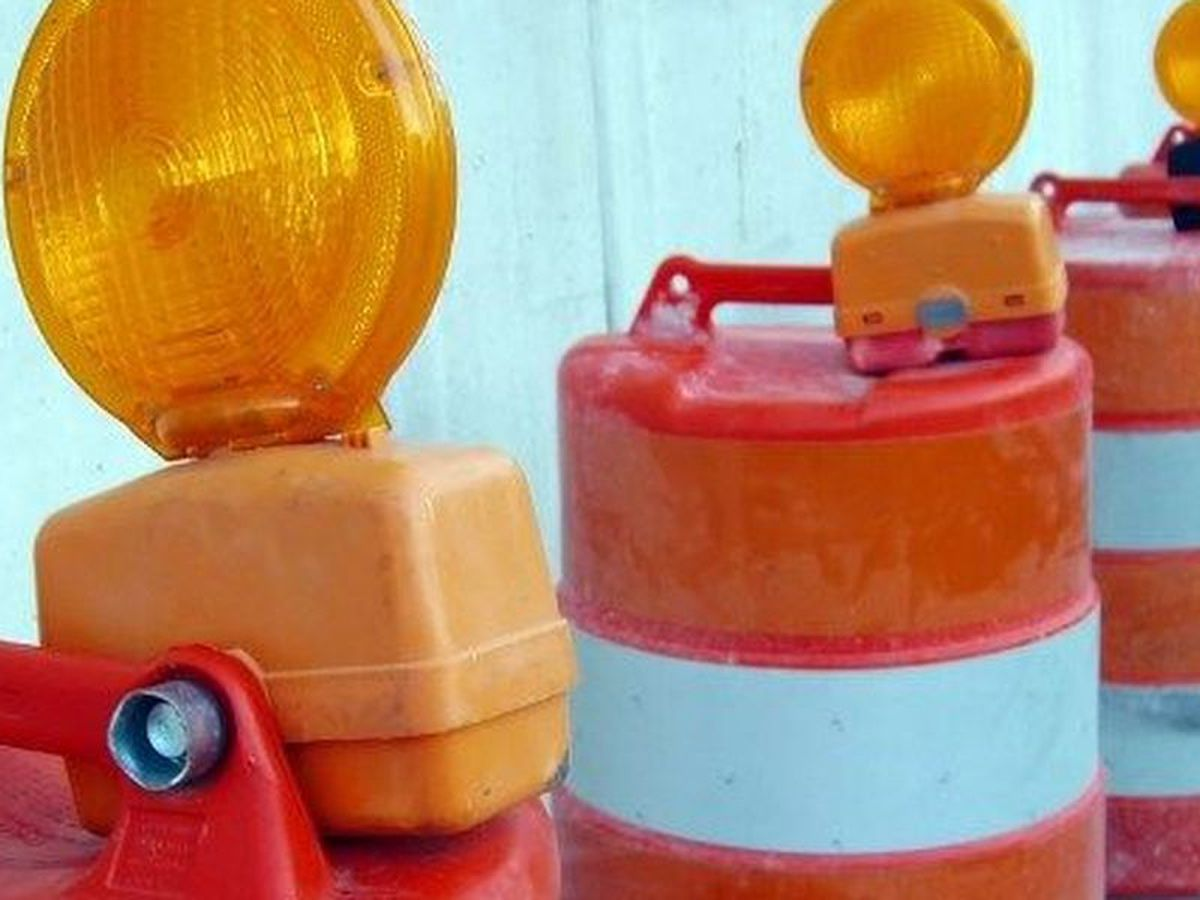 Lane closure on South Church Street due to construction at Icehouse Amphitheater in Lexington