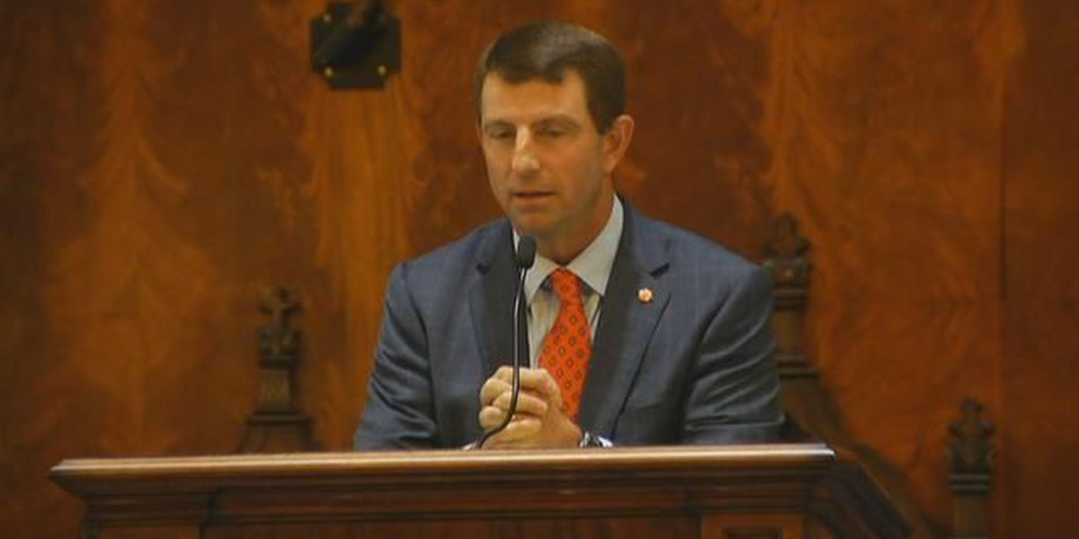 Dabo Swinney holds court, declares 'football matters' in State House speech
