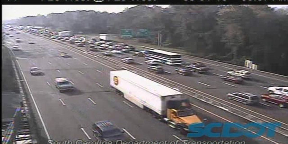 Lanes back open after collision on I-26EB