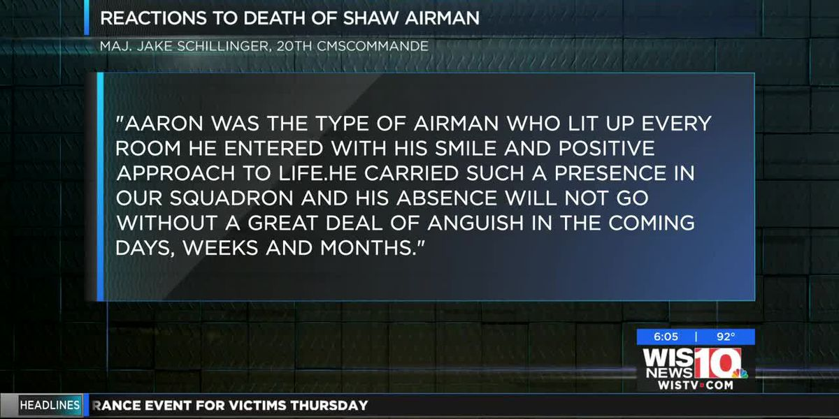 Shaw Air Force Base airman dies due to health complication, officials say; 3rd airman death in two weeks