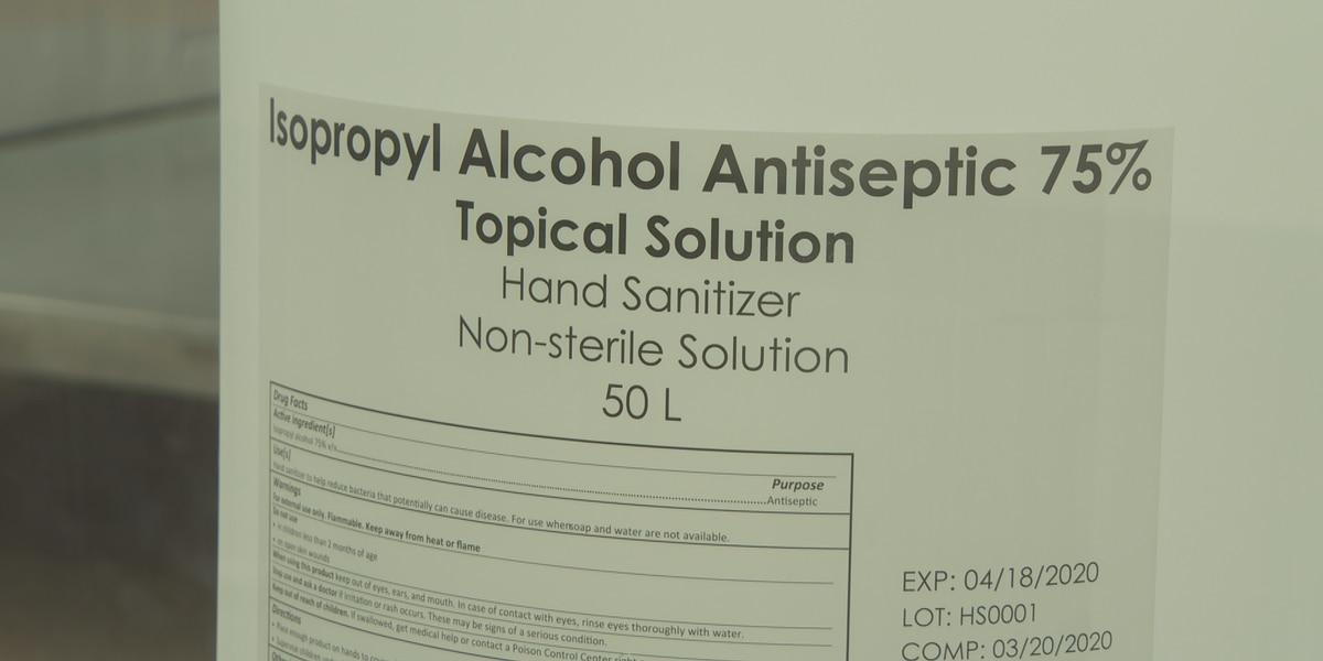 Midlands drug manufacturing company donates liters of hand sanitizer to VA Hospital