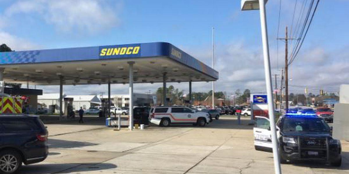 Lexington gas station closed after car crashed into gas pump