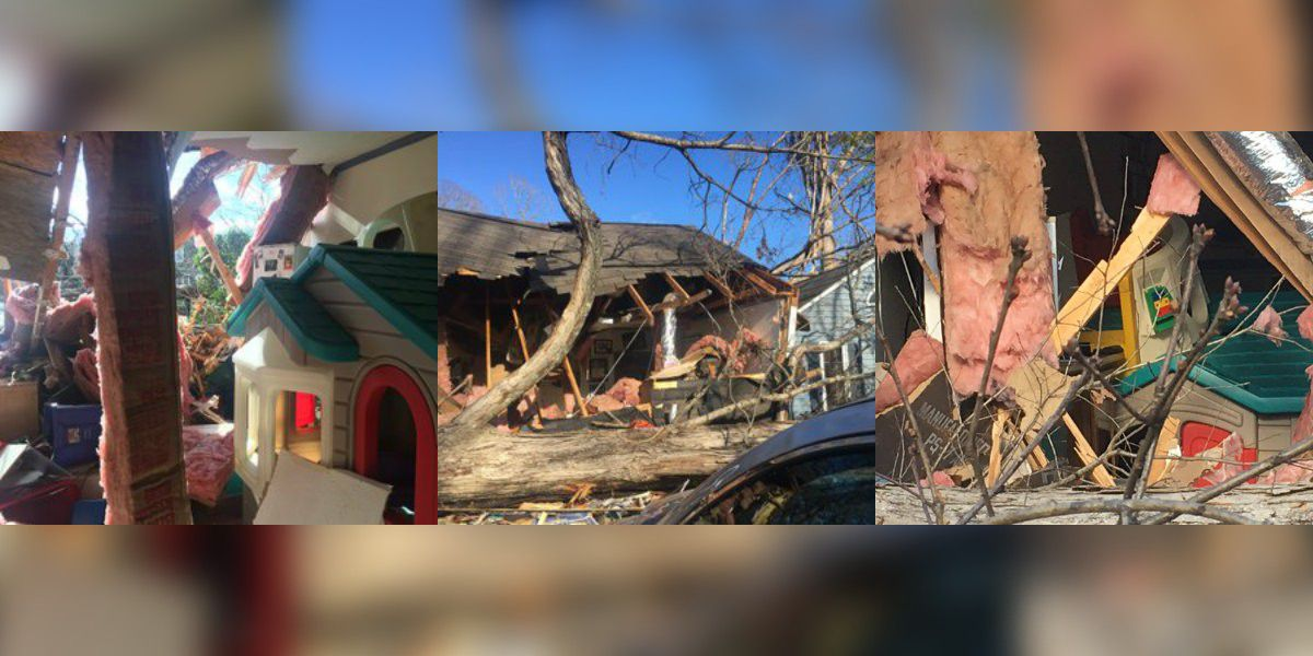 Tornado hits south Charlotte daycare, owner saves children within minutes of impact