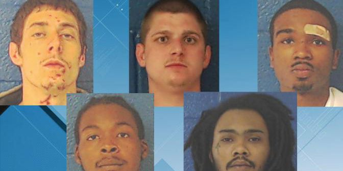 5 inmates escape from NC jail by cutting hole in fence; 2 recaptured