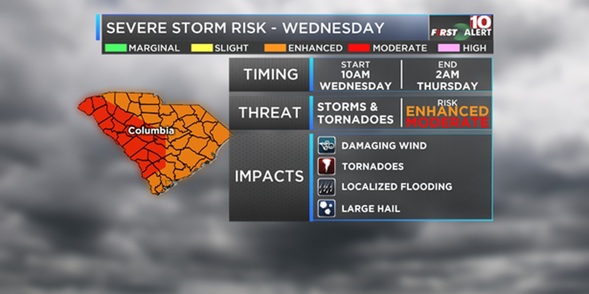 LIST: School and program early dismissals, closures ahead of Wednesday's severe weather