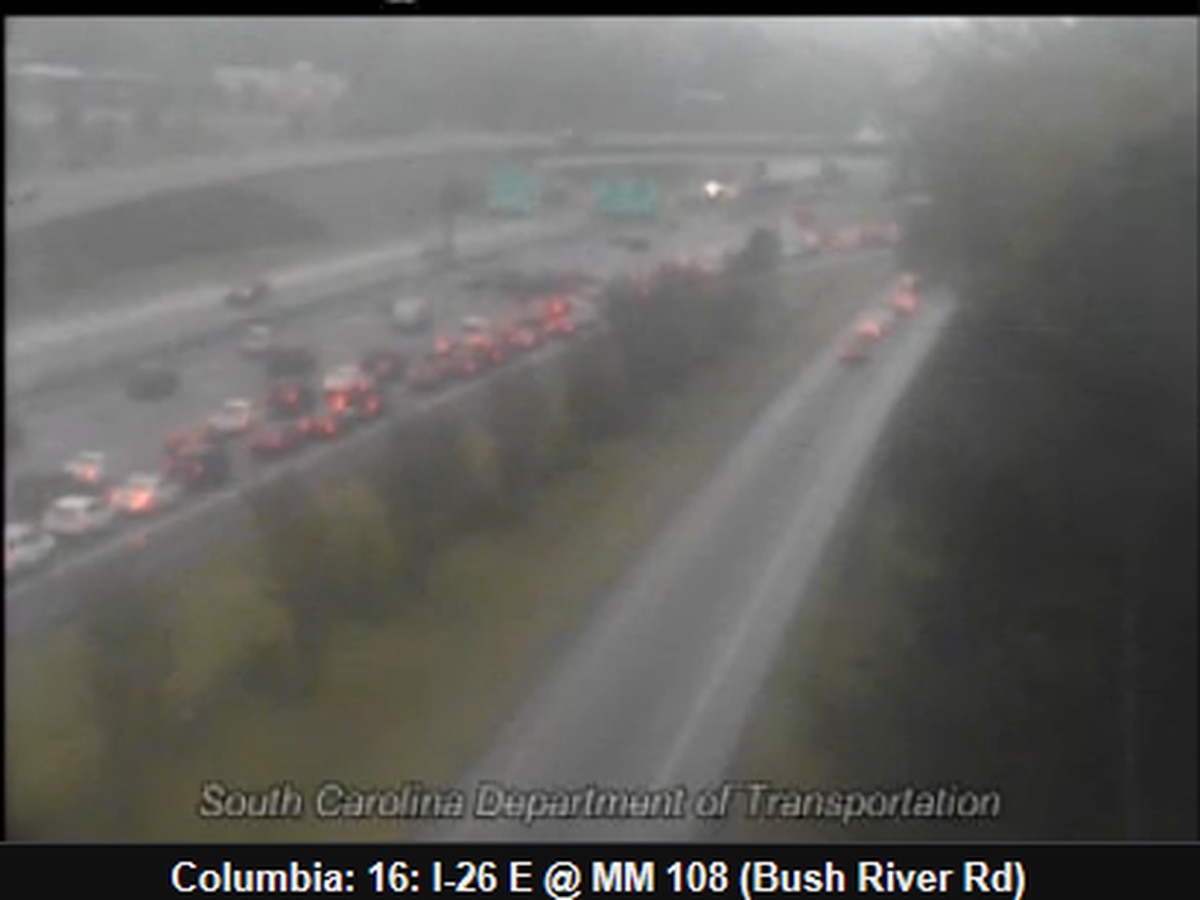 All lanes clear on I-26 E near Bush River Road exit following fiery collision