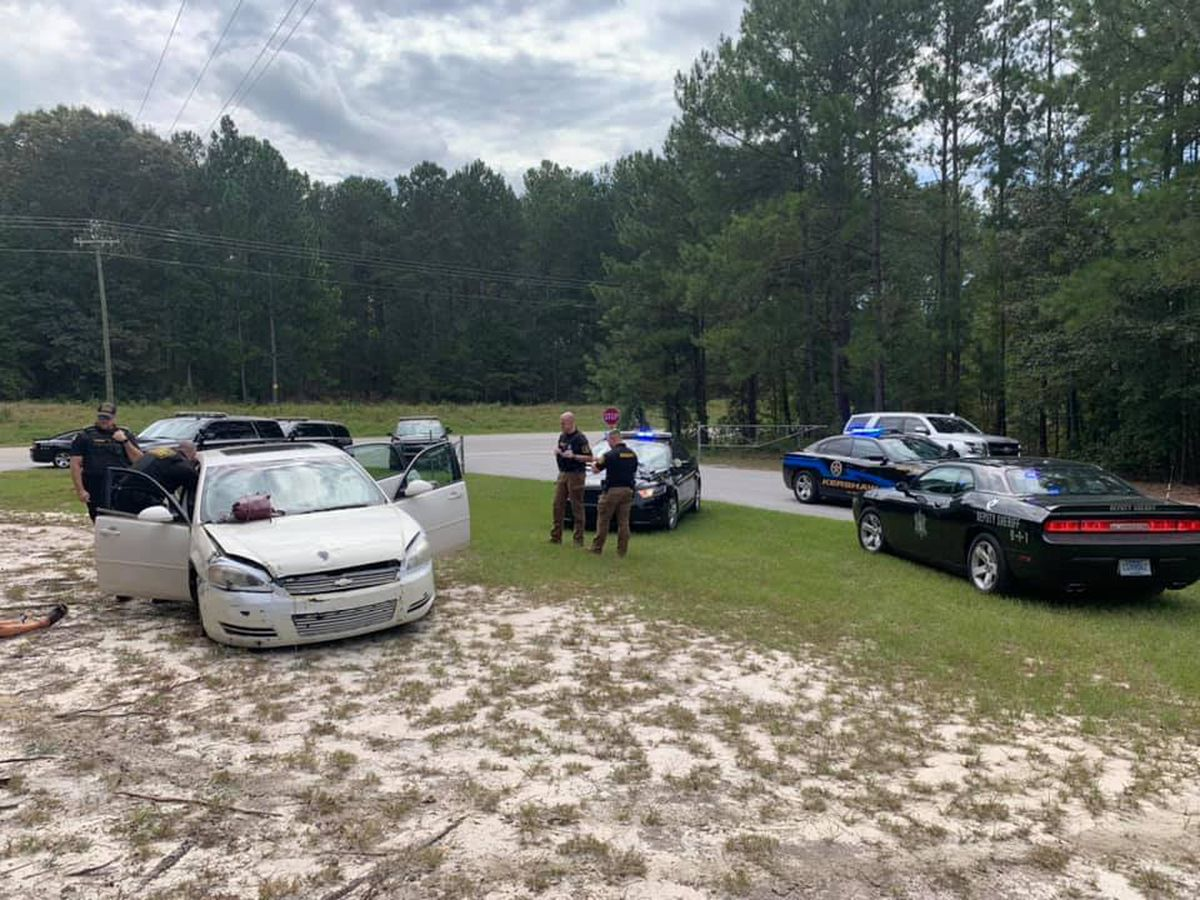 Deputies: Car chase crosses county lines as suspect throws out gun, drugs