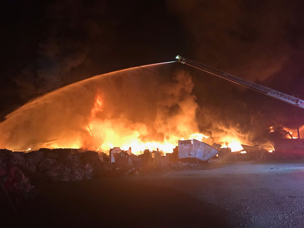 Officials battling massive structure fire near South Lafayette Drive in Sumter