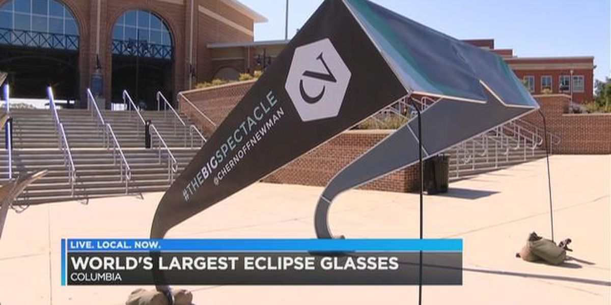 The largest pair of eclipse glasses are in the Midlands