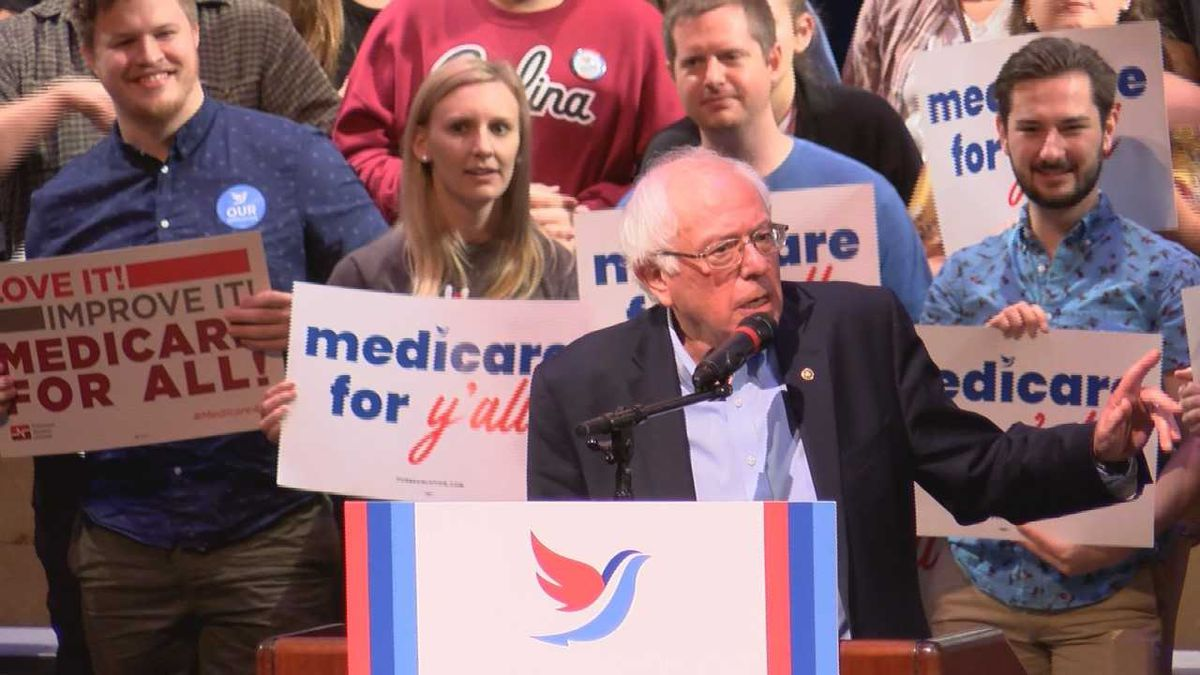 Sen. Bernie Sanders urges South Carolina to fight for Medicaid for all at Saturday rally