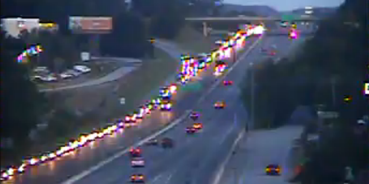 All lanes back open after construction causes delays on I-26EB