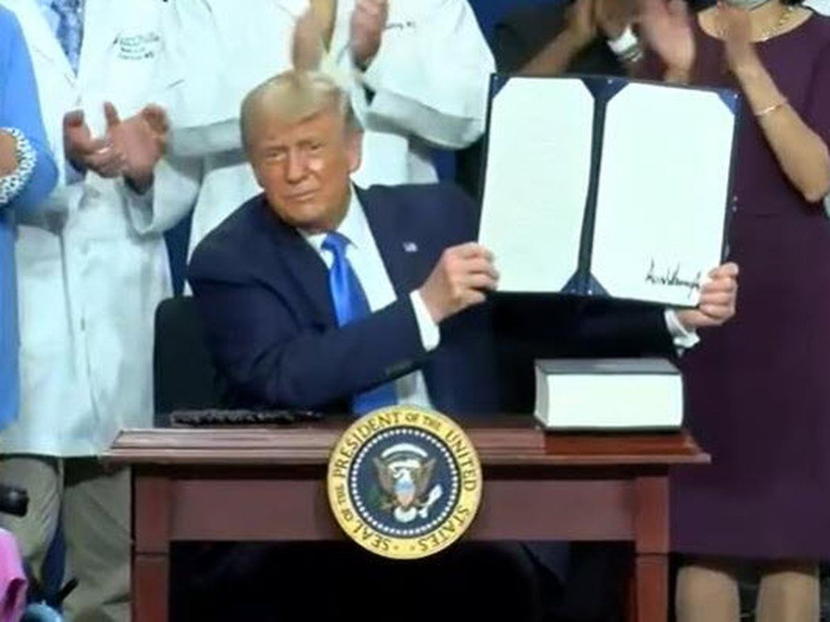 President Trump signs Executive Order on pre-existing conditions in Charlotte