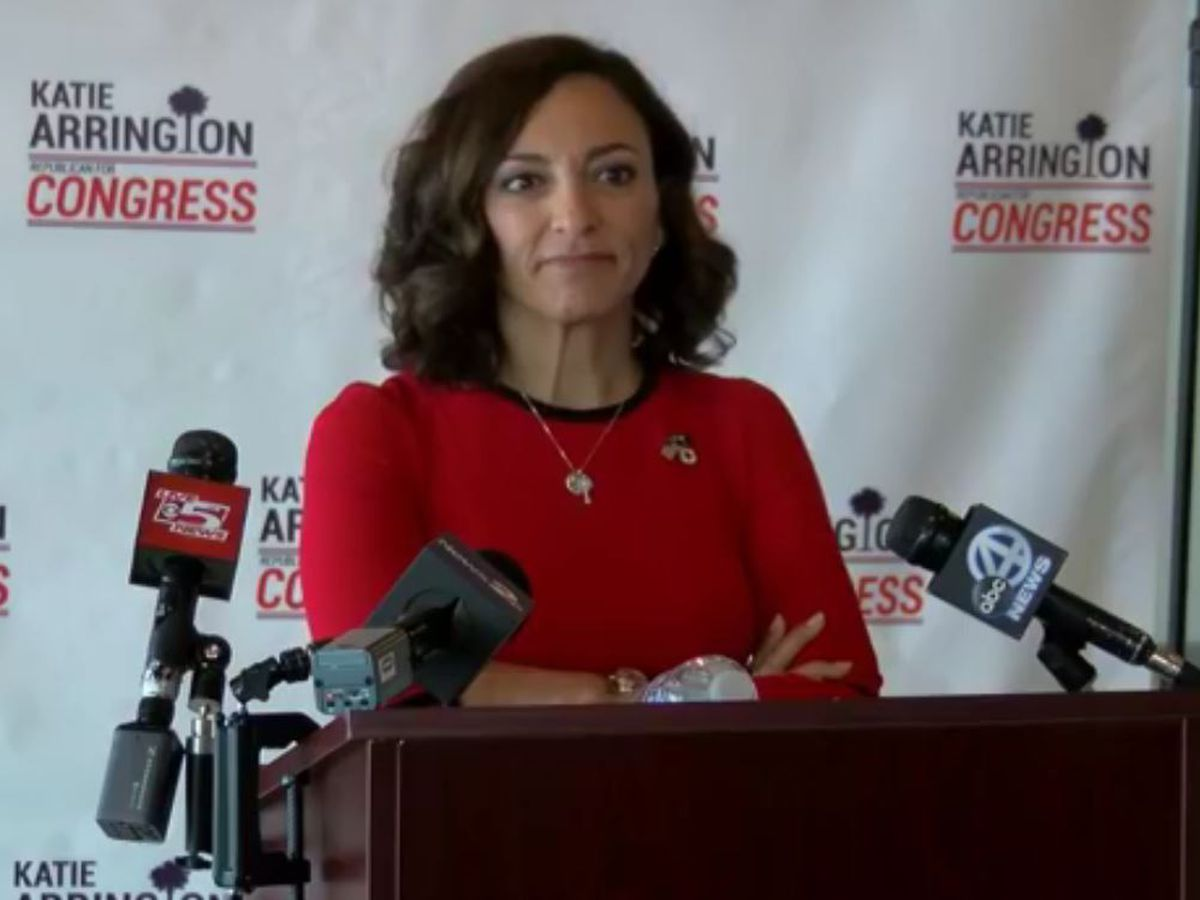 Katie Arrington calls out Mark Sanford in speech about Joe Cunningham election win
