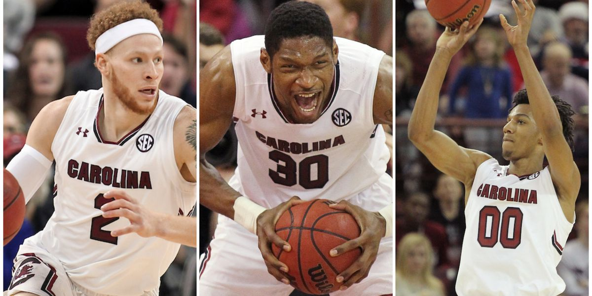 South Carolina trio picks up SEC honors in men's hoops