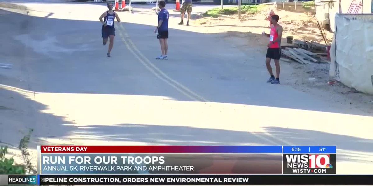 """""""They serve and fight for us, the least that I can do is come out here and run for them."""" Hundreds r"""