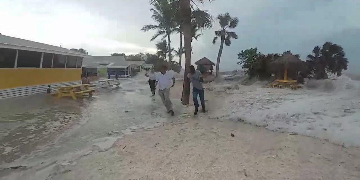VIDEO: FL Meteotsunami pushes wave of water into homes along Sanibel Island