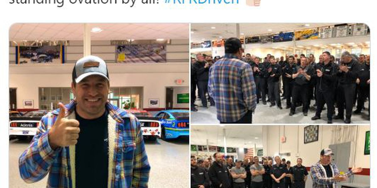 Ryan Newman receives standing ovation during return visit to shop